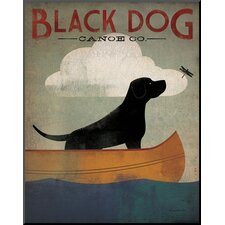 'Black Dog Canoe' by Ryan Fowler Vintage Advertisement