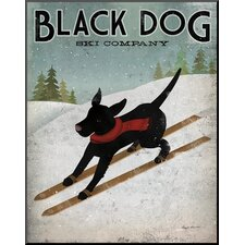'Black Dog Ski' by Ryan Fowler Vintage Advertisement