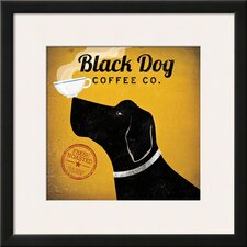 'Black Dog Coffee Co.' by Ryan Fowler Framed Vintage Advertisement