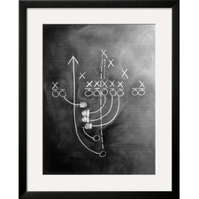 'Football Play on Chalkboard' by Howard Sokol Framed Photographic Print