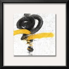 'Zen in Yellow I' Framed Painting Print