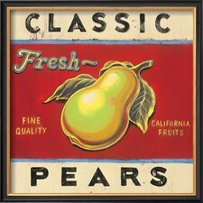 'Classic Pears' by Angela Staehling Framed Vintage Advertisement