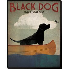 'Black Dog Canoe' by Ryan Fowler Framed Vintage Advertisement