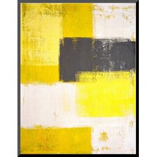 'Grey and Yellow Abstract' Painting Print