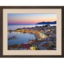 'Harbour at Dusk, Pythagorion, Samos, Aegean Islands, Greece' by Stuart Black Framed Photographic Print