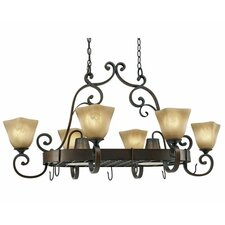 Portsmouth Chandelier Pot Rack with 8 Light