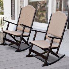 Cedar Creek Solid Wood Folding Rocking Chairs (Set of 2)