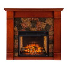 Easley Faux Stone Infrared Electric Fireplace