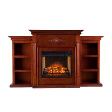 Tabor Infrared Electric Fireplace with Bookcase