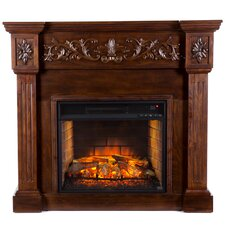 Claridge Infrared Electric Carved Fireplace
