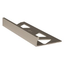 "96"" Cove Base Flat Edge Tile Trim in Titanium"