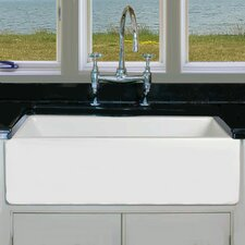 "29.75"" x 18"" Fireclay Apron Sink"