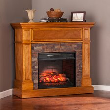 Thornton Stone Look Convertible Infrared Media Electric Fireplace