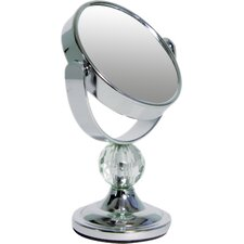 Mini Me Glamour Mirror with Acrylic Crystal Finial