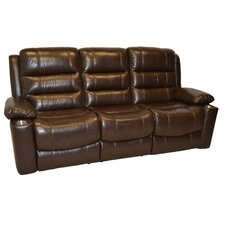 Trenton Leather Double Reclining Sofa
