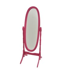Princess Cheval Mirror with Crystal Knobs