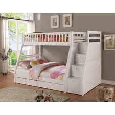 Dakota Twin over Full Bunk Bed with Storage