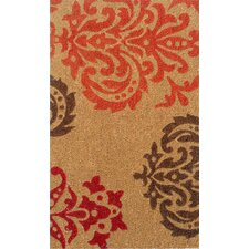 Crystle Orange Baroque Doormat