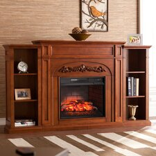Mueller Bookcase Infrared Electric Fireplace