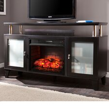Sutton Black Infrared Media Electric Fireplace