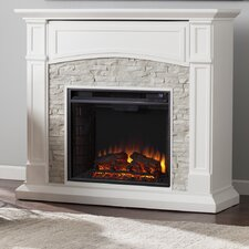 Sheldon Faux Stone Media Electric Fireplace