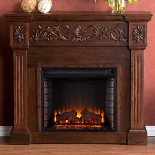 Oakley in Espresso Electric Fireplace