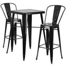 Fullmer 3 Piece Bar Table Set