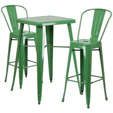 Fullmer 3 Piece Bar Table Set