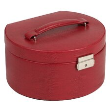 Heritage Round Jewelry Box with Travel Case