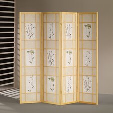 "70"" x 68"" Shoji 4 Panel Room Divider"
