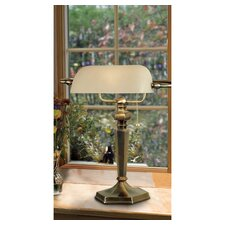 "Mackinley Banker 15"" H Table Lamp with Rectangular Shade"
