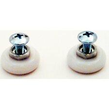Shower Door Oval Edge Roller (Set of 2)