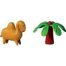 2 Piece Holiday Dromedario and Palmita Figurine Set