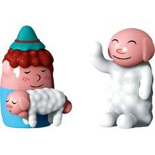 2 Piece Holiday Pastorello and Ciaociao Figurine Set
