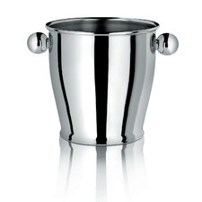 Ice Bucket with Handles in Polished Stainless Steel