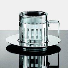 Aldo Rossi 4.2 oz. Mocha Cups with Saucer