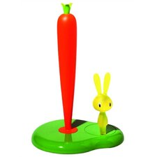 Bunny & Carrot Kitchen Roll Holder by Stefano Giovannoni