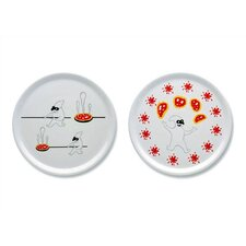 "A du Alessi - Dream Factory 12.2"" Pizza Plates by Massimo Giacon (Set of 2)"