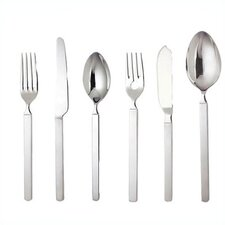 Dry Flatware Collection in Mirror with Satin Handle by Achille Castiglioni