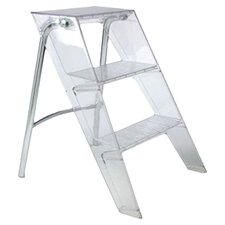 3-Step Plastic Upper Step Stool with 570 lb. Load Capacity