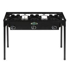 3-Burner Outdoor Stove with Stand
