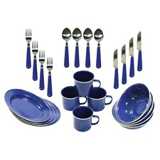 24 Piece Camping Tableware Set