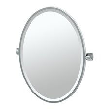 Jewel Framed Oval Mirror