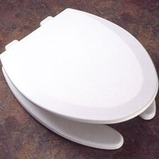 Molded Wood Decorator Commercial Open Front Elongated Toilet Seat