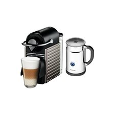 Pixie Espresso Maker with Aerocinno & Milk Frother