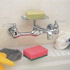 PlumbCraft Wall Mounted Bathroom Faucet Double Handle