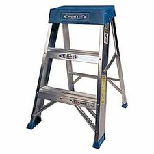 3-Step Aluminum Step Stool with 300 lb. Load Capacity