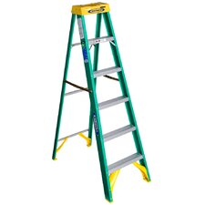 6 ft Fiberglass Step Ladder with 225 lb. Load Capacity