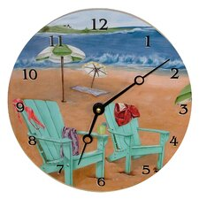 "Travel and Leisure 18"" Skinny Dipping Wall Clock"