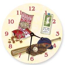 "Sports 10"" Baseball Wall Clock"